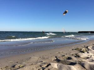 Grömitz: Ladepause am Meer